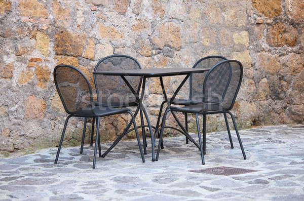 Iron table and chairs Stock photo © alessandro0770