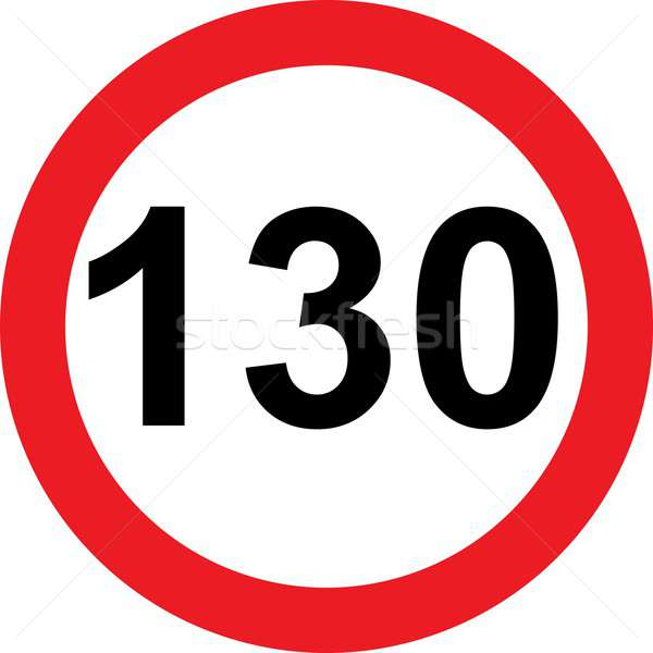 130 speed limitation road sign Stock photo © alessandro0770