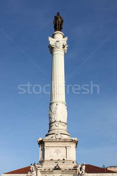Statue of Dom Pedro IV Stock photo © alessandro0770