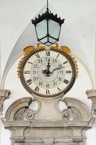 Muro guardare lampadario costruzione clock tempo Foto d'archivio © alessandro0770