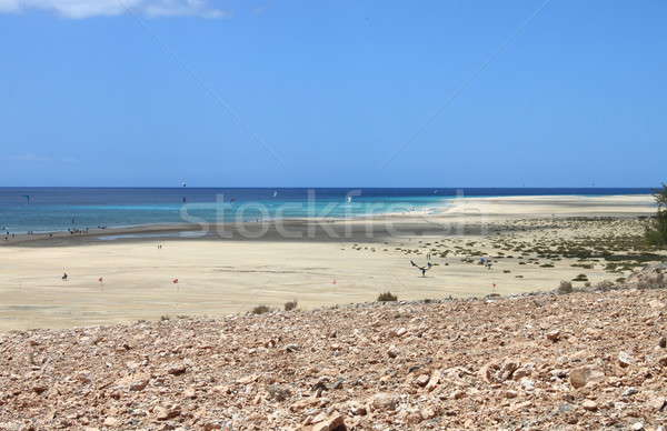 пляж Канарские острова Испания небе воды лет Сток-фото © alessandro0770