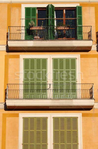 Squared windows with balcony Stock photo © alessandro0770