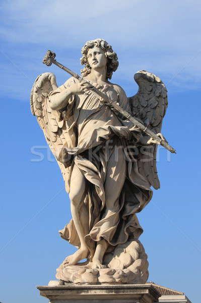 Melek heykel aziz köprü Roma İtalya Stok fotoğraf © alessandro0770