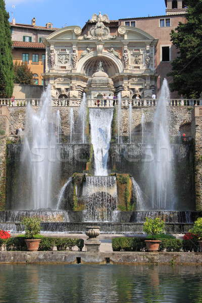 çeşme villa Bina seyahat çağlayan mimari Stok fotoğraf © alessandro0770
