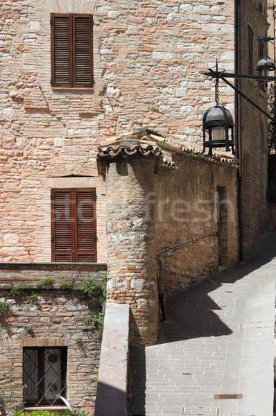 Medieval corner in Assisi Stock photo © alessandro0770