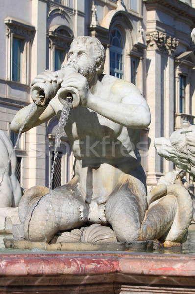 Moor fountain in Navona Square Stock photo © alessandro0770