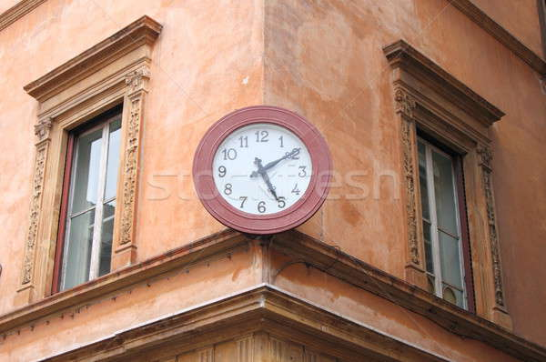 Eski duvar saat saray Roma İtalya Stok fotoğraf © alessandro0770