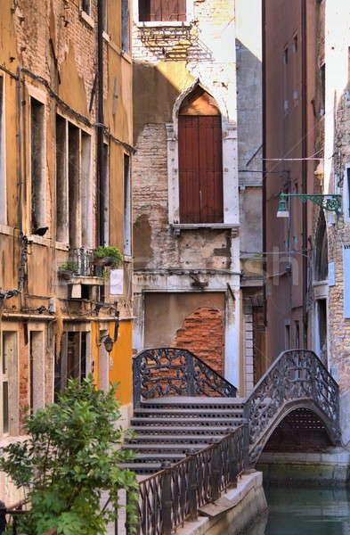 Stedelijke schilderachtig Venetië hdr Italië bloemen Stockfoto © alessandro0770