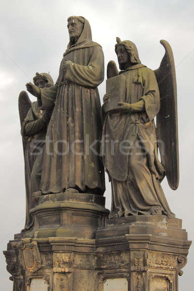 Stock photo: Statue of St. Francis Seraphic in Prague