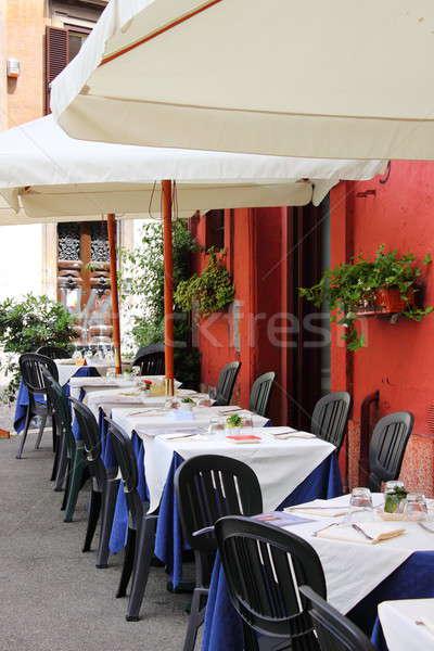 Charakteristisch Restaurant Rom Innenstadt Italien Stadt Stock foto © alessandro0770