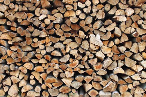 Tűzifa közelkép kilátás köteg fa fa Stock fotó © alessandro0770