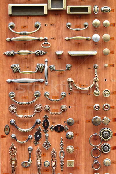 Bronze and brass door knobs Stock photo © alessandro0770
