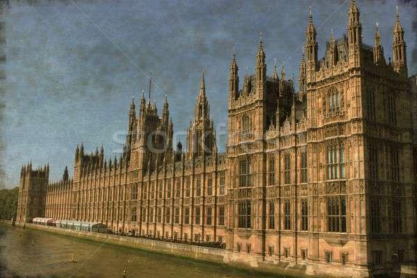 ストックフォト: 住宅 · 議会 · ロンドン · ヴィンテージ · 画像 · 市