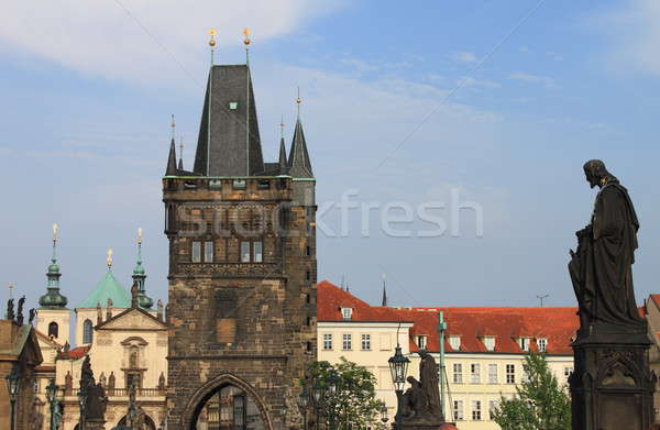 Tower on Charles Bridge in Prague Stock photo © alessandro0770