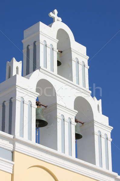 Ortodox harang torony Santorini sziget Görögország Stock fotó © alessandro0770