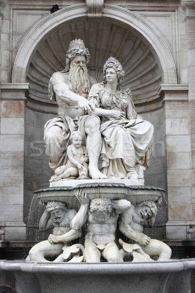 Standbeeld museum paleis Wenen Oostenrijk gebouw Stockfoto © alessandro0770