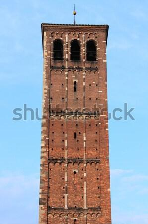 Romanic tower of Saint Ambrogio cathedral Stock photo © alessandro0770