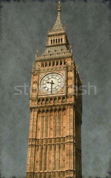 ビッグベン ヴィンテージ 画像 クロック 塔 ロンドン ストックフォト © alessandro0770