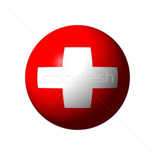 Bol vlag Zwitserland officieel bal witte Stockfoto © alessandro0770