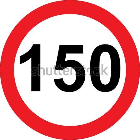 Snelheid verkeersbord witte weg teken politie Stockfoto © alessandro0770