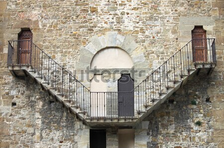 Velho pedra escada medieval palácio arquitetura Foto stock © alessandro0770