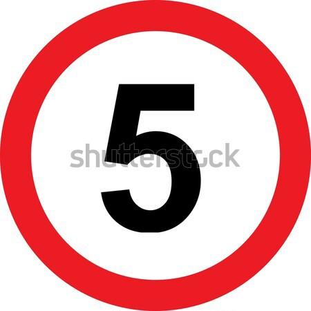 5 speed limitation road sign Stock photo © alessandro0770