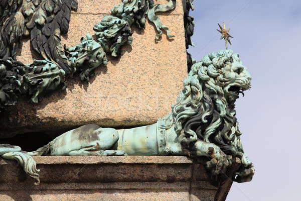 Lion vatican statue saint carré Cité du Vatican Photo stock © alessandro0770
