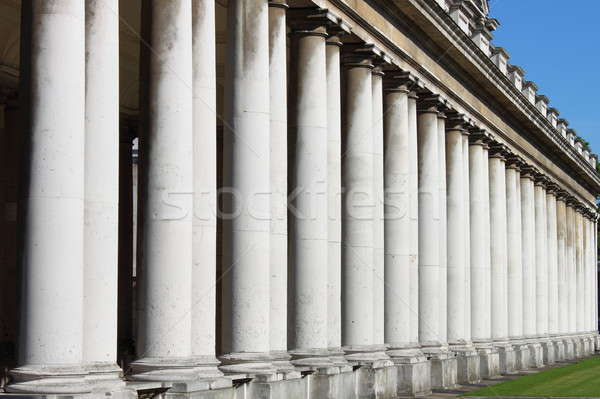Royal Naval College colonnade in Greenwich Stock photo © alessandro0770