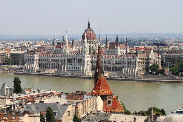 Parlement Hongrie Budapest bâtiment ciel ville Photo stock © alessandro0770