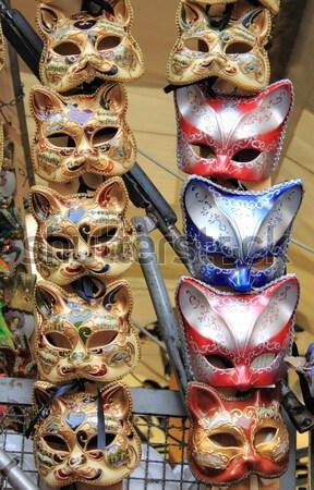 Venedik karnaval maskeler iki tipik parti Stok fotoğraf © alessandro0770