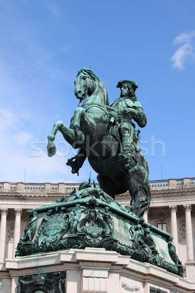 Stock photo: Prince Eugene statue