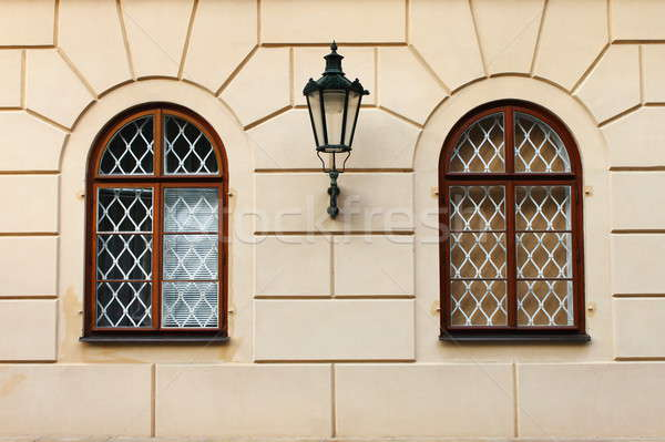 Renaissance windows with iron street lamp Stock photo © alessandro0770