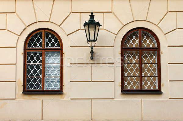 Pencereler demir Prag Çek Cumhuriyeti Bina Stok fotoğraf © alessandro0770