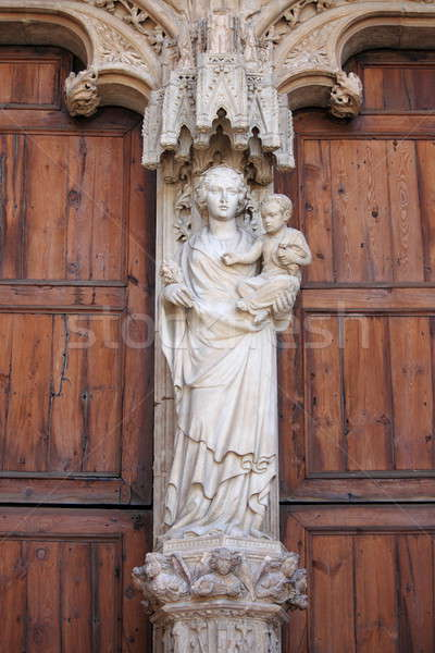 Statue of Virgin Mary with Jesus child Stock photo © alessandro0770