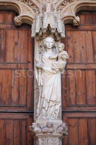 Statua vergine Gesù bambino cattedrale Foto d'archivio © alessandro0770