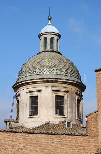 Kopuła Rzym kościoła Włochy budynku budowy Zdjęcia stock © alessandro0770