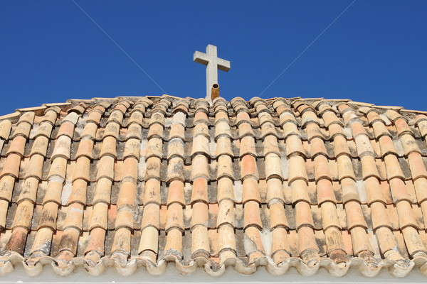 Roof of Church of Santo Domingo in Ibiza Stock photo © alessandro0770