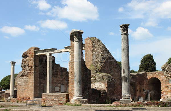 Ruins of a temple in Ostia Antica Stock photo © alessandro0770