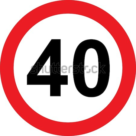 40 speed limitation road sign Stock photo © alessandro0770