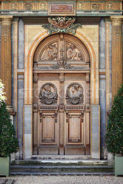 Porte d'entrée Paris France maison bois ville Photo stock © alessandro0770