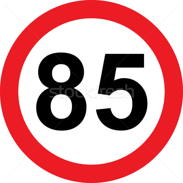 85 speed limitation road sign Stock photo © alessandro0770