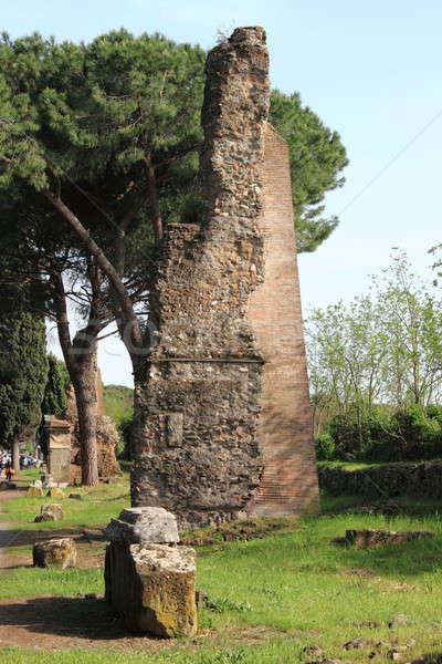 Ruïneren Romeinse tempel Rome manier Italië Stockfoto © alessandro0770