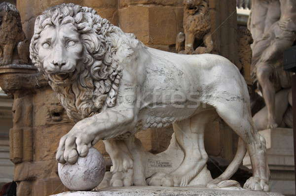 Lion in Florence Stock photo © alessandro0770