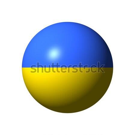 Bol vlag Oekraïne natie bal Europa Stockfoto © alessandro0770