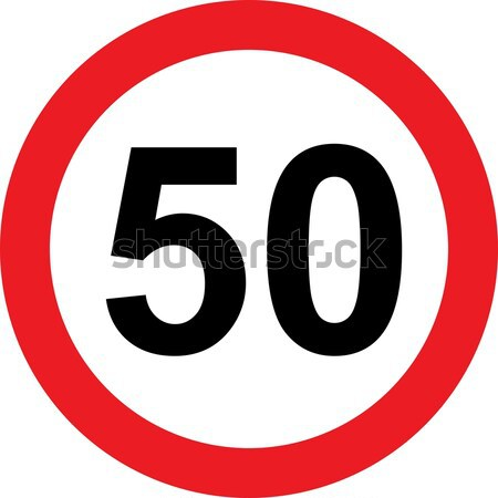 50 speed limitation road sign Stock photo © alessandro0770