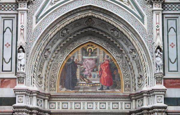 Szűz mozaik porta Florence katedrális Olaszország Stock fotó © alessandro0770