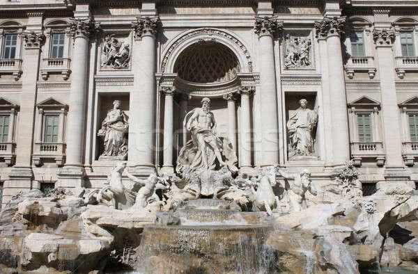Trevi Çeşmesi Roma manzara görmek İtalya su Stok fotoğraf © alessandro0770