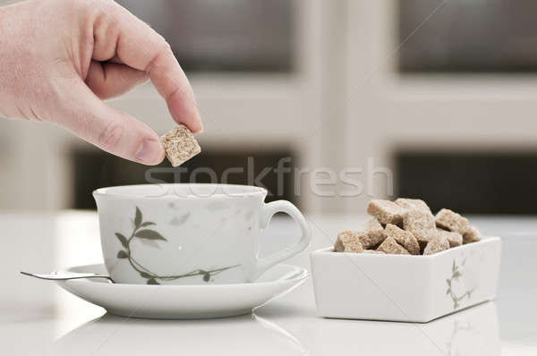 tea cup with brown sugar for relax time Stock photo © AlessandroZocc