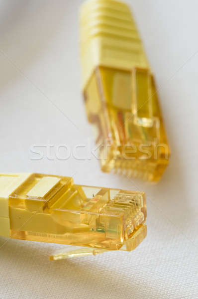 Yellow internet cable plugs Stock photo © AlessandroZocc
