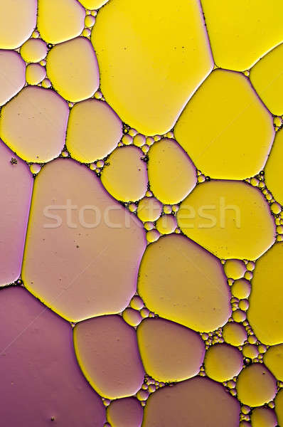 Artistic Colorful oil and soap bubbles in water Stock photo © AlessandroZocc